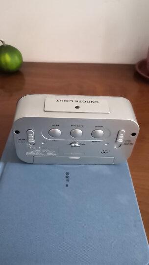 汉时(Hense)创意电子闹钟学生静音床头钟多功能贪睡闹表时尚儿童聪明钟HA11 白色充电版 晒单图