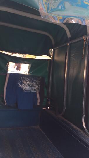 威凡电动三轮车车棚遮阳棚挡雨棚加厚方管折叠全封闭三轮车棚篷雨棚快递专用车篷 军绿色 普通款/加厚双雨帘8腿  长200cm宽130cm 晒单图