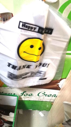 心容 笑脸购物袋塑料袋超市手提袋食品打包袋加厚透明袋子背心袋马甲塑胶袋【整大包】塑料袋批发 宽长38*58cm五丝750个(50*15捆) 晒单图