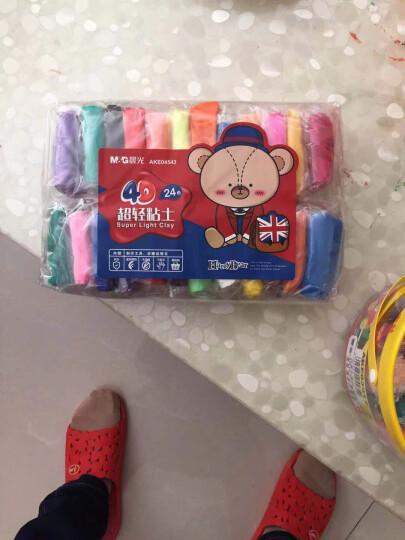 晨光(M&G)AKE03907美味蛋糕4D轻质粘土橡皮泥彩泥手工玩具套装12色/盒 晒单图