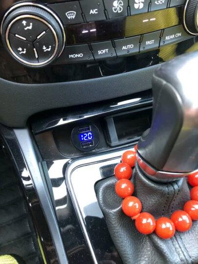 图拉斯 车载充电器车充 汽车点烟器转换器一拖二 3.4A快充双USB手机充电器头 【玫瑰金】4.8A合金迷你版提速50%/夜间氛围灯 晒单图