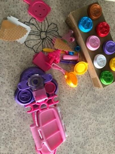 迪士尼儿童冰淇淋机玩具女孩橡皮泥彩泥超轻粘土太空泥无毒模具工具套装手工diy制作雪糕机3-6-10岁 蛋糕甜品套装 晒单图