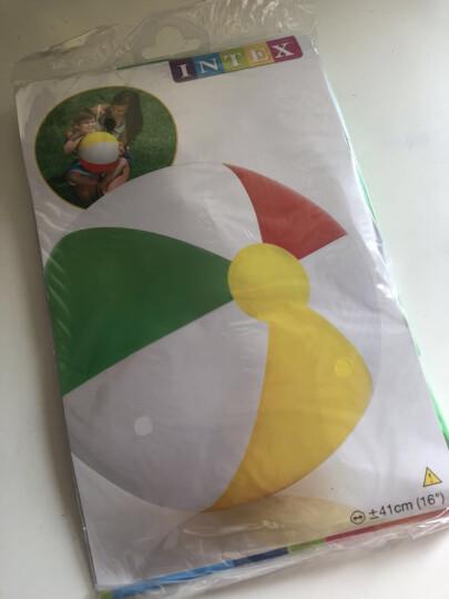 INTEX 59010充气沙滩球戏水玩具球海滩球手球水球 四色儿童流行充气球41cm 颜色随机发 晒单图