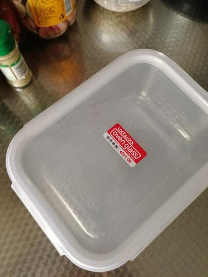 乐扣乐扣 大容量玻璃保鲜盒便当餐盒 大号微波炉专用加热饭盒 密封碗冰箱零食品水果干货冷冻储物收纳盒子 2L 晒单图