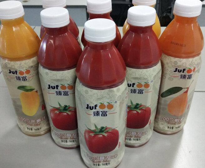 臻富(jufoo) 100%纯果汁健康无盐糖不添加饮品果蔬菜汁饮料 番茄汁枇杷汁芒果汁脐橙汁4种口味混装 晒单图