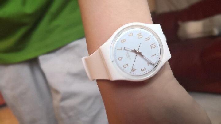 斯沃琪(Swatch)瑞士手表原创系列白衣主教学生简约男女石英表GW164 晒单图