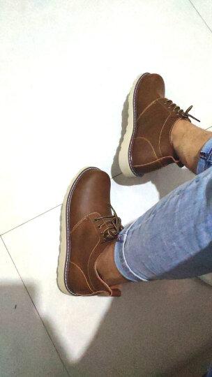 马登男士皮靴工装鞋大头鞋子英伦风潮流男靴百搭真皮短靴 蜜蜡色 41 晒单图