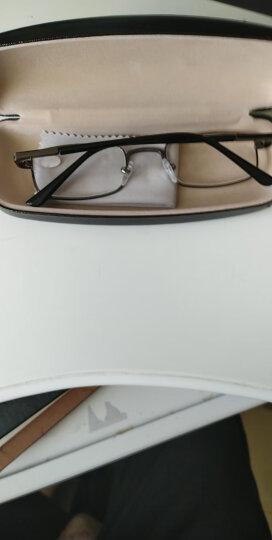 雷德蒙新款老人眼镜老花镜男树脂金属老花眼镜女眼睛时尚舒适老化眼镜老年人眼镜男女 咖啡250度 晒单图