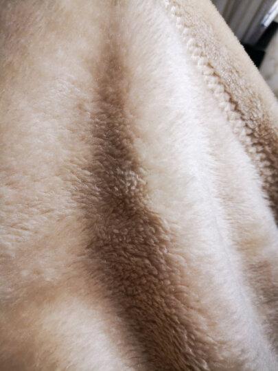 御棉堂 法兰绒毯子毛毯加厚冬季毛毯被冬天加厚毛巾被单双人保暖床单办公室午睡毯儿童盖毯空调毯团购礼品 粉紫色 230*240cm双人床加大 晒单图