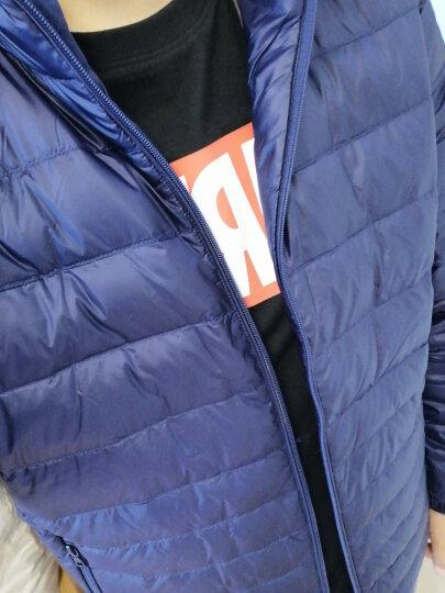 坦博尔羽绒服男轻薄秋冬新款外套90%鸭绒修身立领时尚男士羽绒服短款 TF17227深海蓝 175/92A 晒单图