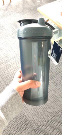BlenderBottle 蛋白粉摇摇杯户外运动水杯带搅拌球 碧蓝色约800ML 晒单图