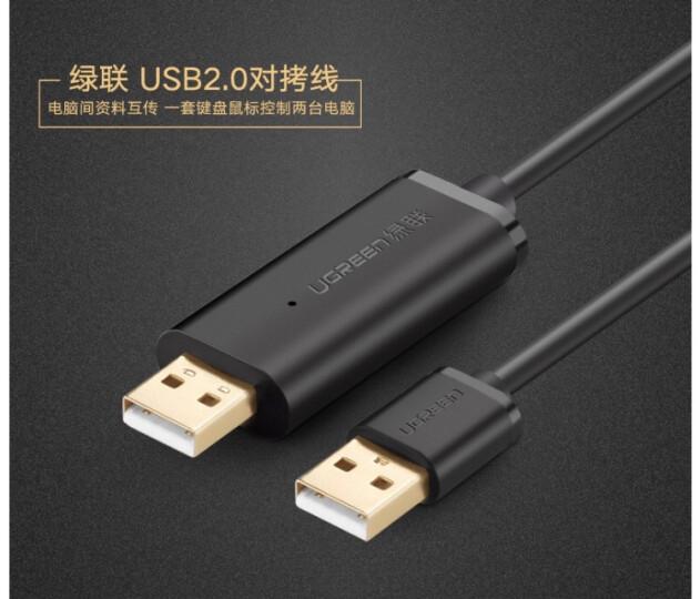 绿联 USB对拷线 电脑数据对传线 免驱多功能传输连接线 鼠标键盘互联共享线 2米 晒单图