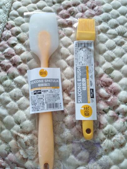 厨氏 耐高温一体式 硅胶 刮刀板 硅胶刷 抹刀 牛轧糖 雪花酥 搅拌 烘焙工具 c028+c022 刷子+刮刀 晒单图