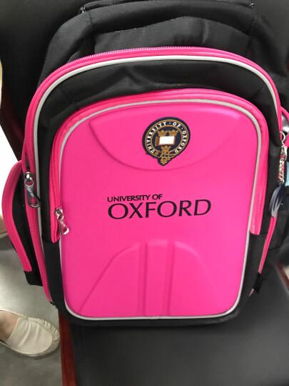 英国牛津大学小学生书包护脊减负儿童书包男女孩1-3-6年级防水双肩背包 X159桃红 大号3-6年级 晒单图
