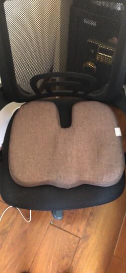 昕科护腰靠垫办公室腰枕座椅靠垫靠枕记忆棉孕妇电热靠背 加热坐垫-咖色 晒单图