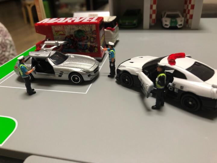 中石化加油站模型玩具场景套装洗车房加油站组合1014 中石化(无灯光版)+交警公仔(4只装)+5辆小车 晒单图