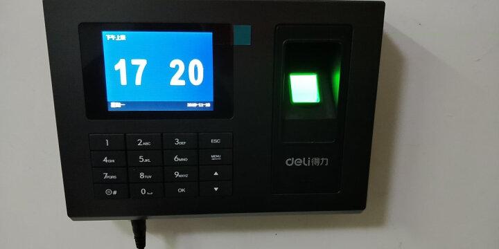 得力(deli) 3968智能触屏打卡机 免软件指纹考勤机 晒单图