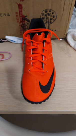 NIKE 耐克 Hypervenom PHADE II TF 内马尔毒蜂 男款碎钉足球鞋 断码852562-801荷兰橙/黑 42 晒单图