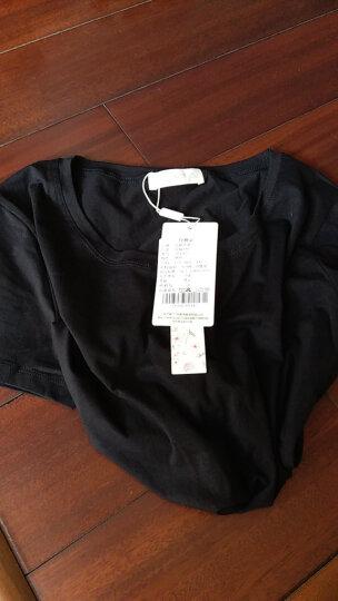 艾路丝婷夏装短袖T恤女上衣韩版修身圆领纯色棉体恤TX3561 酒红色 170/92A/XL 晒单图