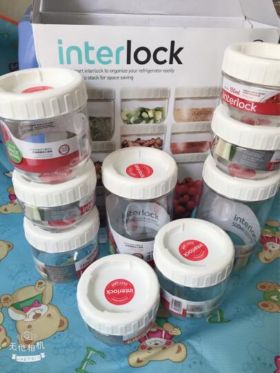 乐扣乐扣(lock&lock)储物罐 冰箱侧门塑料收纳罐 四件套 INTERLOCK INL301S001 晒单图