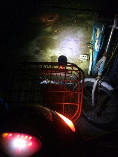 卡格陆摩托车灯电动车灯LED大灯改装射灯高亮升级款电瓶车灯防水超亮外置车灯12V-80V汽车通用雾灯 蓝色四灯珠高亮款12W一个 晒单图