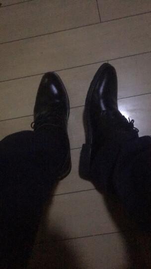 巴图腾软底皮鞋男士皮鞋商务正装鞋青年真皮透气黑色休闲男鞋大码4647内增高鞋小码36秋季新品 加绒款-黑色 42(260) 晒单图