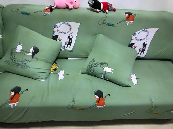 帕布沙发垫套四季通用全包沙发套罩盖布田园布艺组合沙发巾欧式通用布艺沙发保护罩 麻灰 三人(长度区间190-230cm) 晒单图