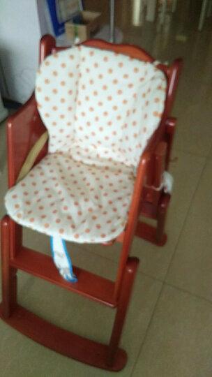 小硕士(XS) 小硕士儿童餐椅实木多功能婴儿餐椅便携可折叠宝宝餐椅餐桌哄娃吃饭可调节婴儿摇摇椅 1156B桃木色升降款 晒单图