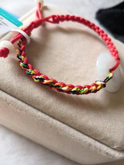 曼丽翠 翡翠干青念珠佛珠手链 绕手多圈手串 时尚个性 送礼佳品 附证书 晒单图