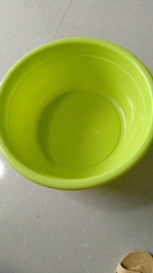 龙士达44CM洗脸盆 大号加厚塑料洗菜洗衣洗脚盆子 耐摔清洁拖把盆 LJ-0101绿 晒单图