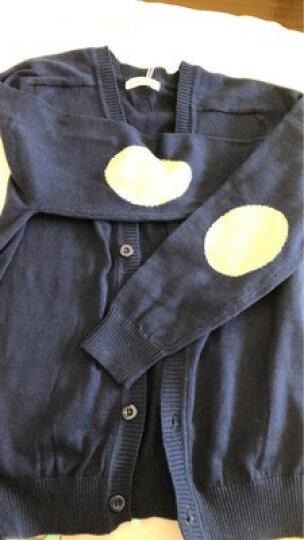 纯一良品童装男童开衫儿童毛衣宝宝针织衫中大童线衣外套男孩春秋装上衣 宝蓝色 120cm 晒单图