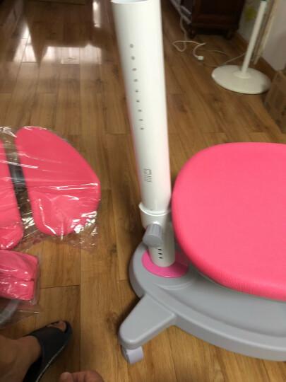 心家宜 儿童学习桌椅套装 学习桌可升降儿童书桌学生书桌写字桌课桌椅组合111+229 公主粉 105cm枫木色学习桌+书架+学习椅 晒单图