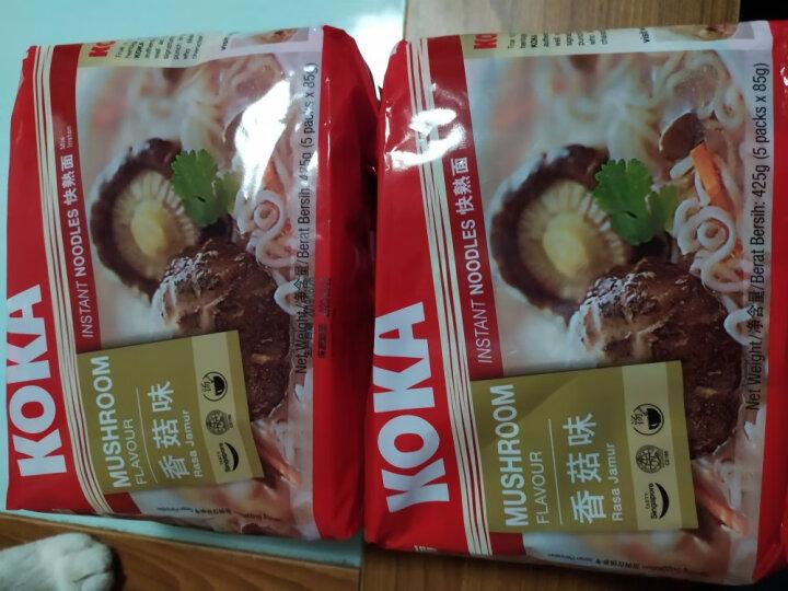 KOKA可口牌 新加坡原装进口 单包85g/425g五连包袋装速食面 网红方便面 沙爹鸡汤面425g 晒单图
