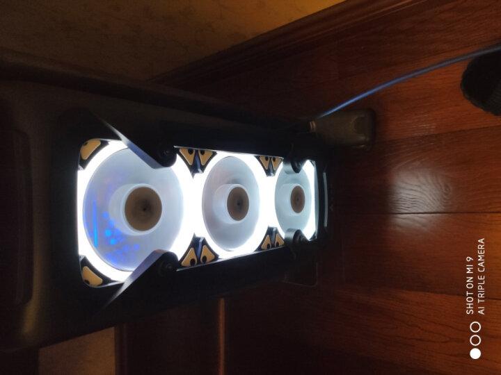 爱国者(aigo) 极光12CM白光 电脑机箱风扇(小3P+大4P双接口/水冷排散热/减震脚垫/赠4螺丝) 晒单图