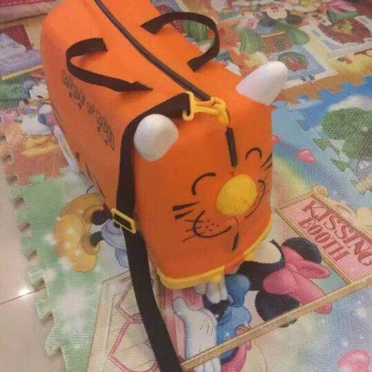 KO SHENG 儿童骑行旅行箱行李箱收纳箱 拖拉玩具学步车可骑坐登机箱包 10032棒棒虎 橙色 晒单图