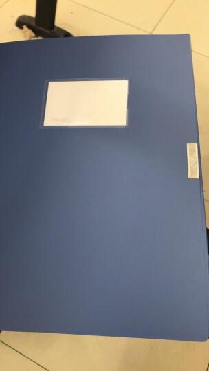 得力(deli)6只55mmA4塑料档案盒 加厚文件盒 党建资料盒 财务凭证收纳盒 办公用品33179蓝色 晒单图