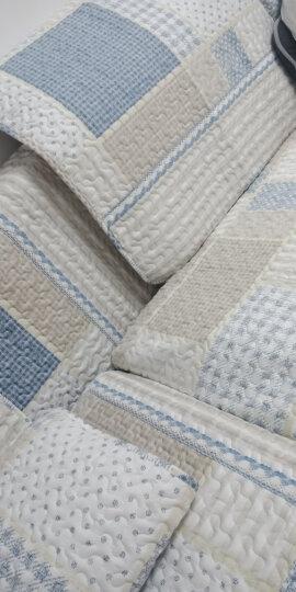 【3件8.5折】木儿家居 四季全棉沙发垫套装坐垫布艺沙发套罩巾 g漫步绿色(水洗棉) 70cm*70cm一片 晒单图