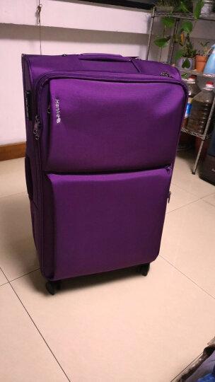 汉客(HANKE)行李箱20英寸牛津布拉杆箱女24英寸小旅行箱男万向轮皮箱子密码箱包 红色 26英寸【需托运 适合7-10天长途旅行 送箱套】 晒单图