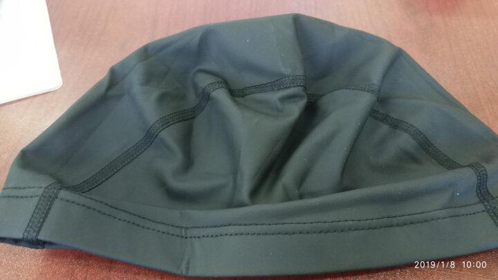 李宁 LI-NING 男女游泳帽 PU涂层长发防水泳帽 护耳舒适不嘞头 LSJL856 银灰 晒单图