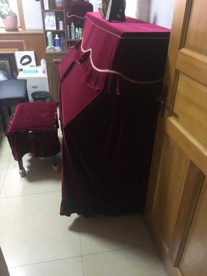 晓晴金丝绒防尘全罩钢琴罩 大气红系列2 赠双人凳罩 78*38 晒单图