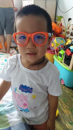 P8866星球儿童防蓝光防辐射眼镜小孩看手机保护眼睛护目平光镜 橙色P8801-B1 晒单图