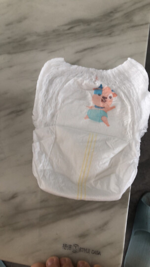 小鹿叮叮 超薄宝宝拉拉裤 婴儿尿不湿 男女宝宝干爽成长裤 XL码18片x3包 晒单图