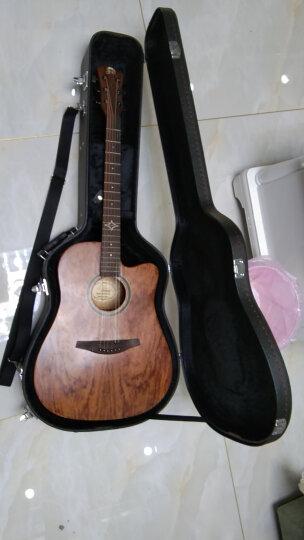 奎特民谣古典吉他盒ABS吉他箱木吉它琴盒玻璃钢琴箱 玻璃钢宝马棕亮光 41寸民谣款 晒单图