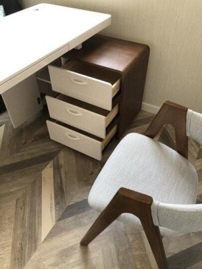 斯兰梦贝 电脑桌 北欧转角书桌实木台式电脑桌椅家用旋转写字台卧室多功能现代简约办公桌 单个书桌 1.3米左手柜 晒单图