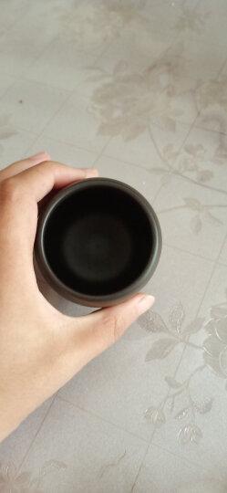 尚言坊茗器 便携紫砂茶叶罐小号迷你茶罐茶缸普洱茶叶盒陶瓷旅行密封罐储物罐家用 紫砂紫泥-小杯茶罐(雕刻字-舍得) 晒单图