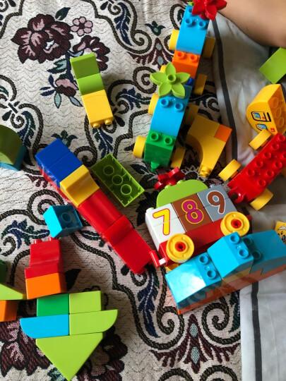 铭塔80粒拼插积木玩具 婴幼儿男女孩立体塑料拼组装塑料 早教智力大块收纳盒装 数字火车 晒单图