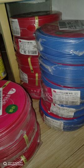 飞雕(FEIDIAO)电线电缆 BV2.5平方 国标家用铜芯电线单芯单股铜线100米 蓝色零线 晒单图