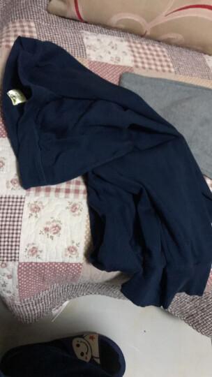 恒源祥秋裤单件男纯加长护膝棉修身打底裤 薄款保暖裤棉毛单裤 护膝款藏青 XL(175/100) 晒单图