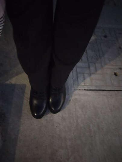 轻奢潮品粗跟短靴女靴 高跟马丁靴女英伦风女鞋韩版甜美冬季厚底防水台 黑色 36正码 晒单图