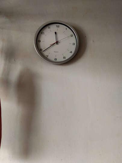 司马相如  挂钟静音客厅创意美式田园挂钟简约现代钟表时尚卧室家用圆形挂表石英机芯欧式时钟 32cm树脂液晶 CFG706NR19 晒单图